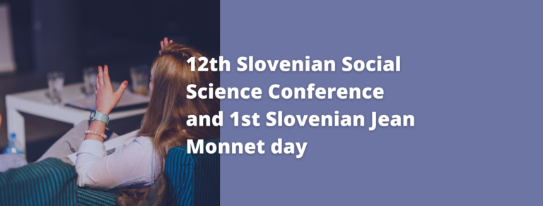 12th SSSC and 1st Slovenian Jean Monnet day