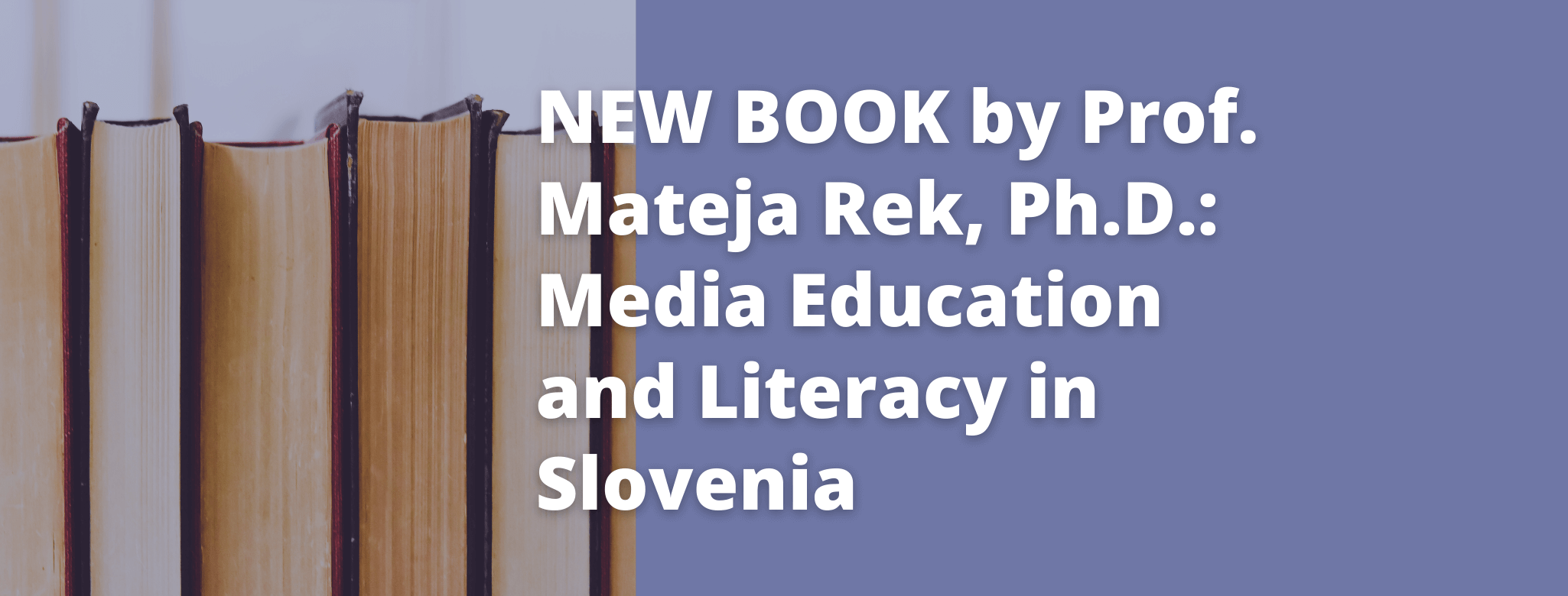 New book by Prof. Mateja Rek, Ph.D.