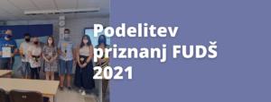 Podelitev priznanj FUDŠ za leto 2021